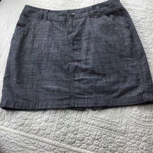 Converse Skirt. Grey Chambray. Size 4.
